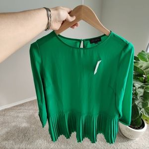 The limited chiffon pleated blouse S